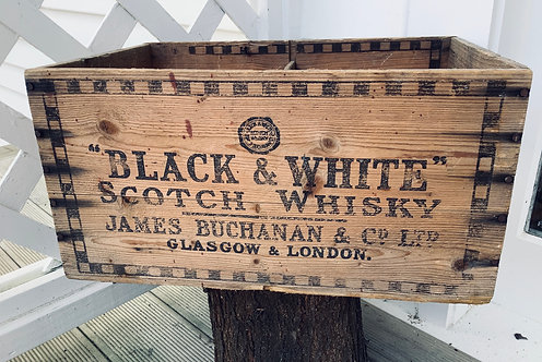 Vintage Wooden Pine Advertising Whisky Box