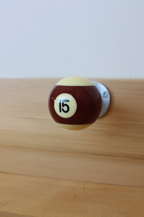 Upcycled Pool Ball Doorstop / Hook