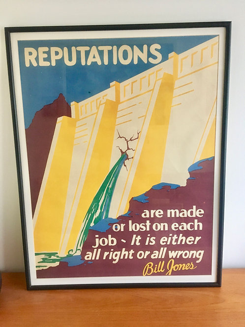 Vintage 1920's US Motivational Poster