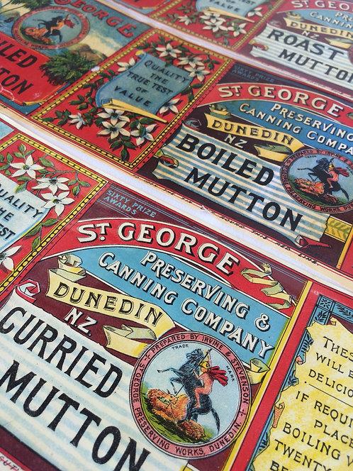 Original Nz Vintage Food Tin Labels