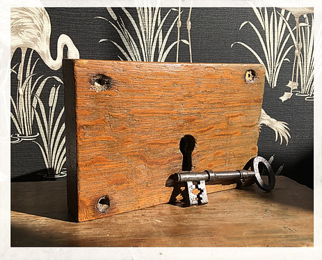 Reclaimed Oak Rim Lock