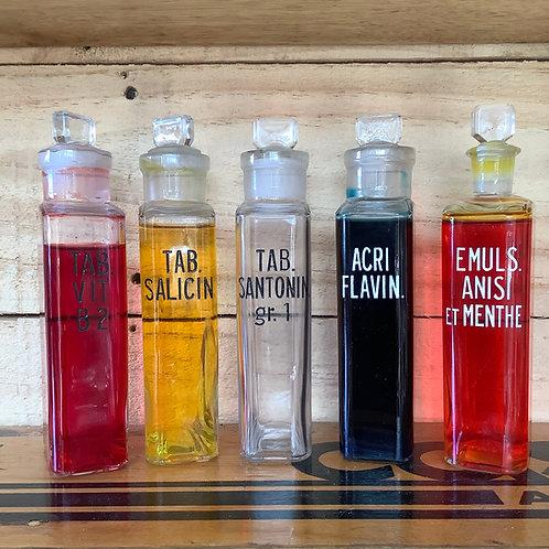 Vintage Apothercary Bottles