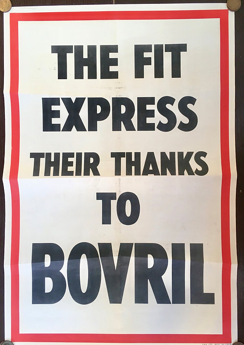 1930's Bovril Advertising Poster