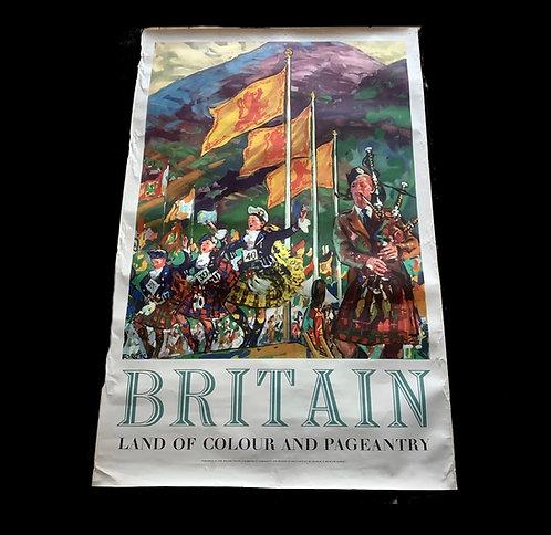 Original Vintage 1950's  British Travel Poster
