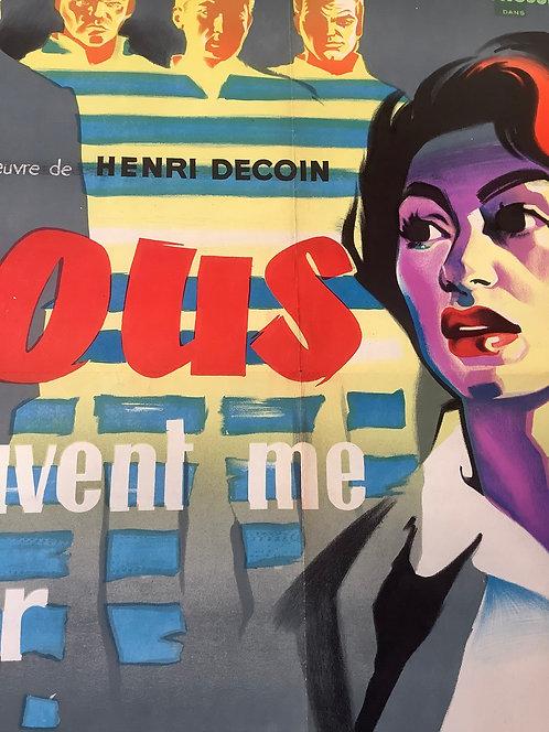 1957 Original French Film Poster