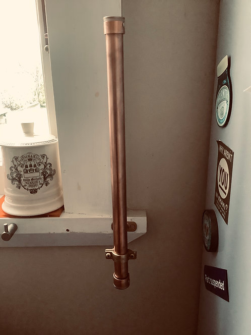 Up-cycled Copper Kitchen Roll Holder