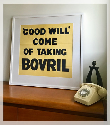 Original Framed Bovril Advertising Poster
