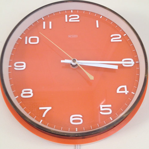 Early Retro 1970's Metamec clock