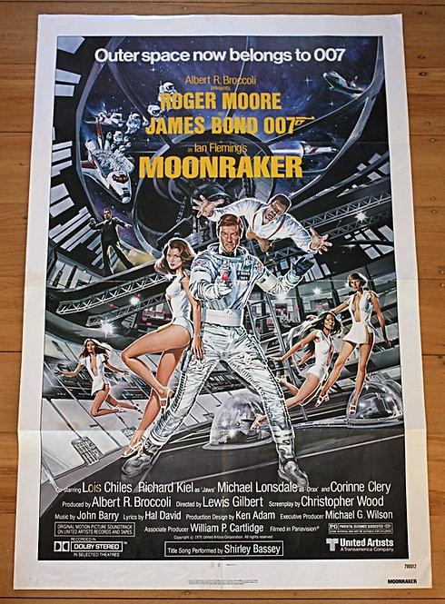 1979 Moonraker / James Bond 007 US One Sheet