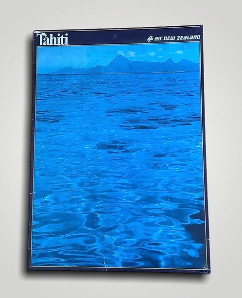 Vintage Air New Zealand Travel Poster / Tahiti