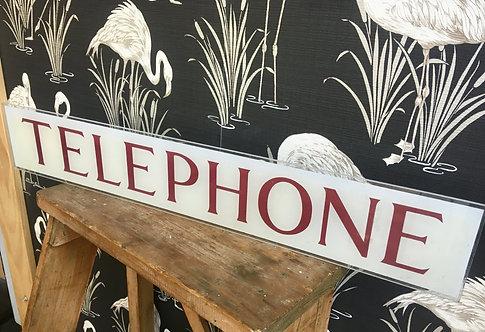 K6 British Telephone Box Sign