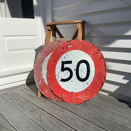 Vintage NZ Road Sign x 2