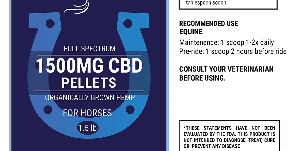 1500mg CBD Hemp Pellets