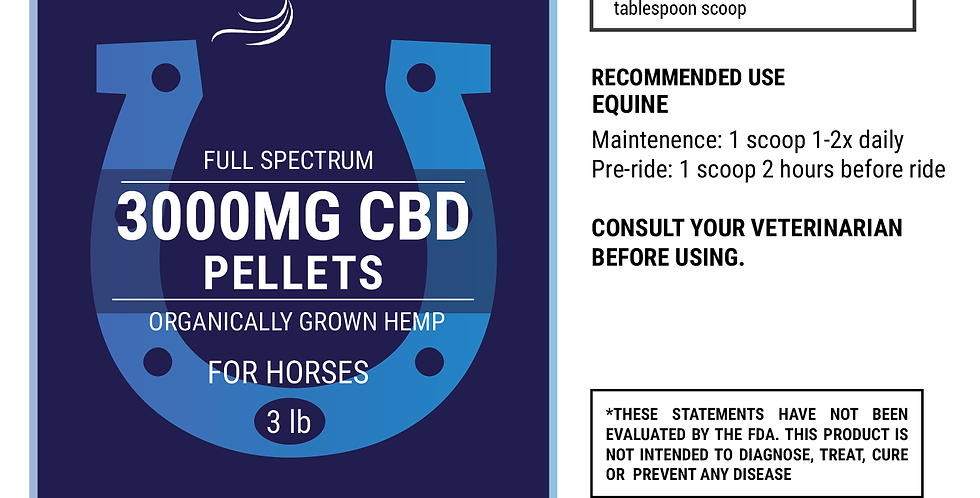 3000mg CBD Hemp Pellets