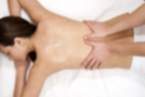 Full body massage. Female subject having full body massage