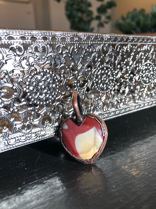 Mookaite Copper Electroformed Pendant
