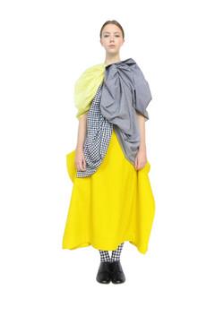 Tri rosette blouse & blanket skirt