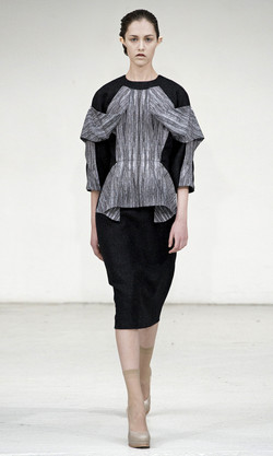 Stitch print detached dress