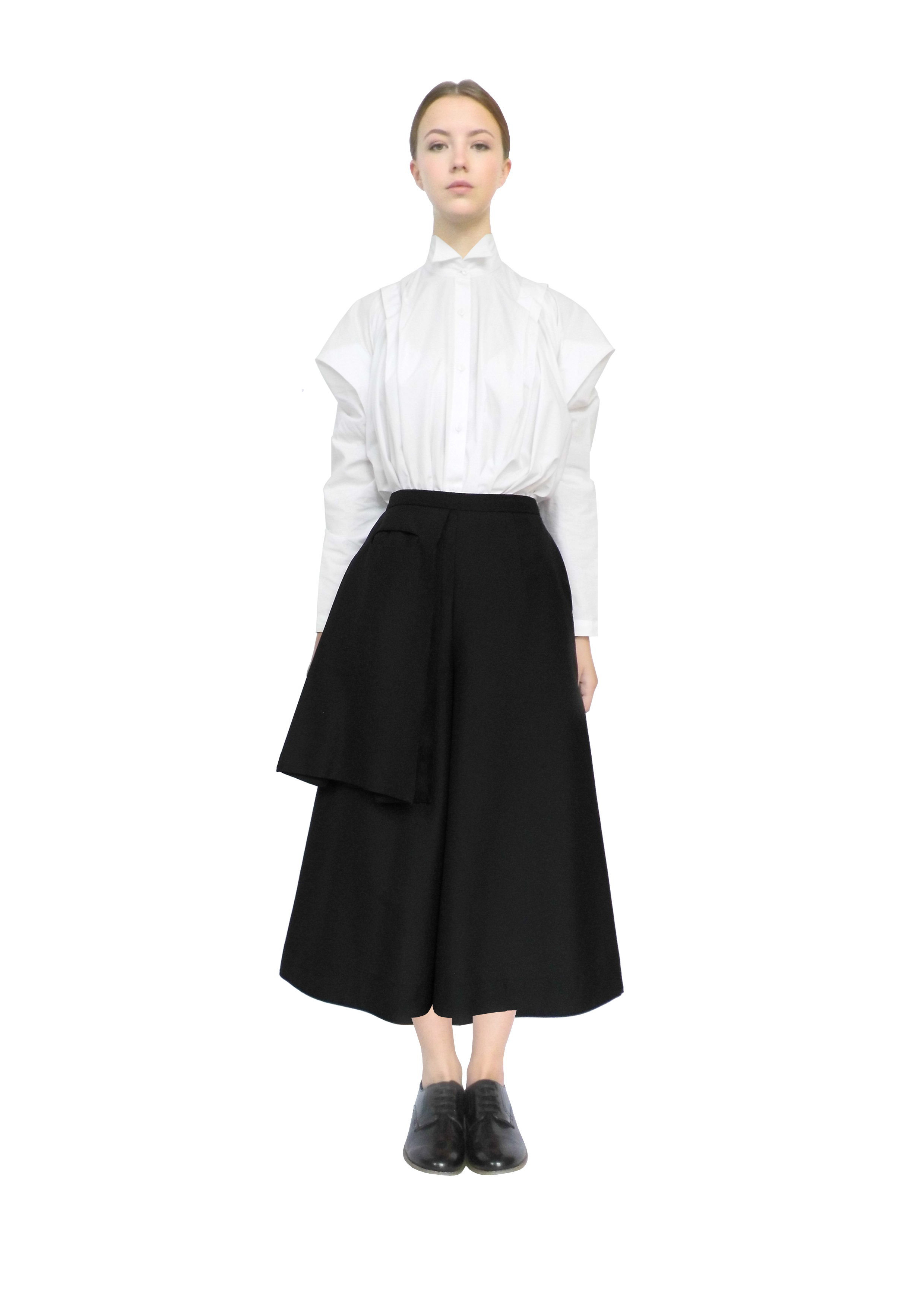 Farmers shirt & bag pocket culottes