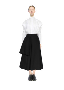 Farmers shirt & bag pocket culottes