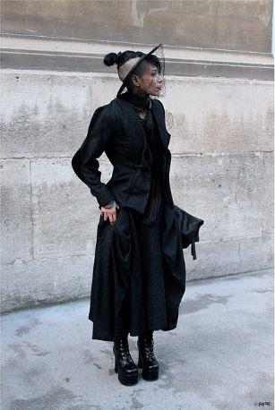 Lily Gatins at Paris Fashion Week