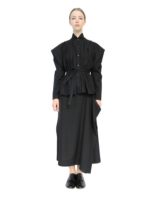 Womens Black Cotton Shirt Feminine Chic Avant Garde Style Androgynous Product Buy Purchase Now Order Online