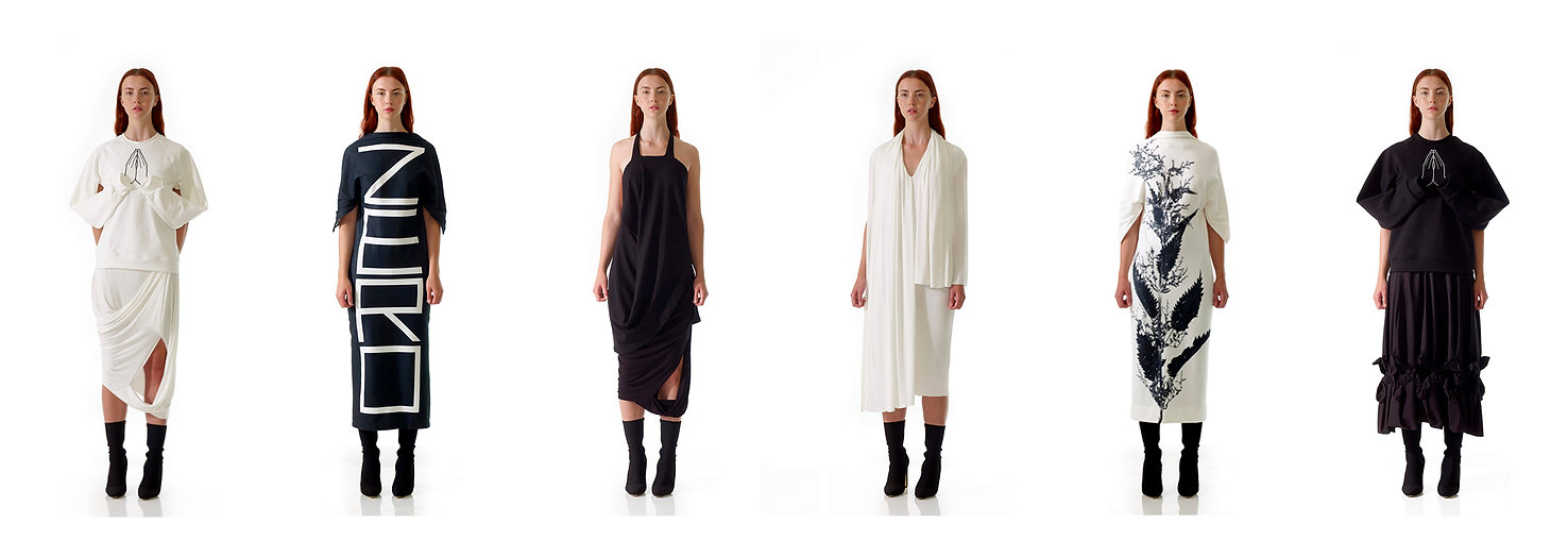 discover new luxury sustainable womenswear fashion collection organic dress skirt top eco friendly unique creative drape contemporary style design
