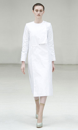 Folded edge coat
