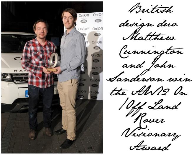 Cunnington & Sanderson win Award