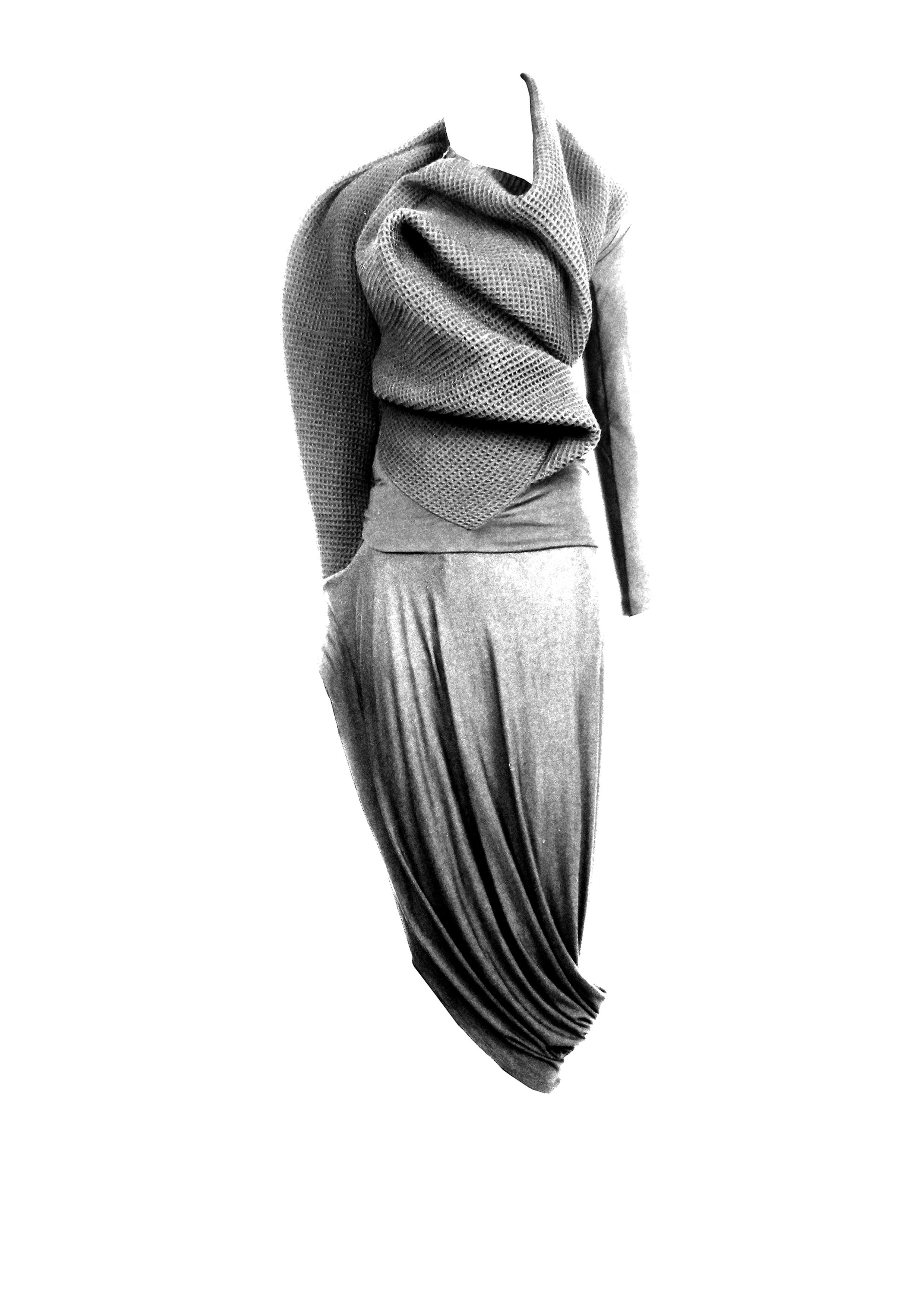 Spiral Top & Swoop Skirt