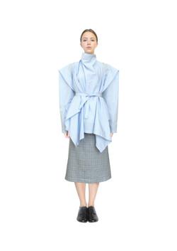 Farmers shirt and a-line skirt