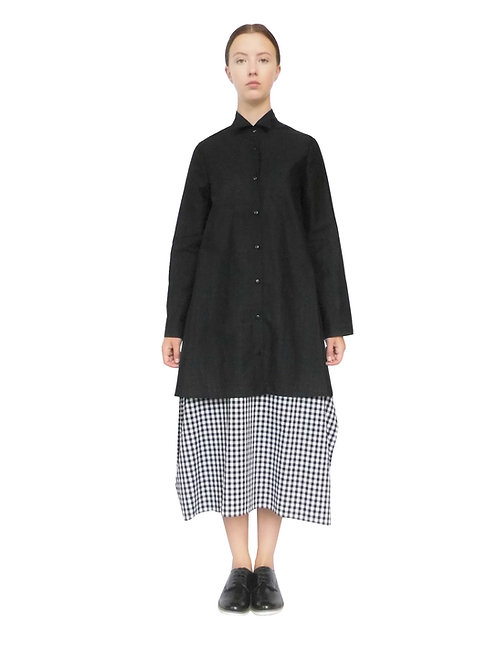 Black Shirt Dress Buttoned Top Blouse Womenswear Clothing Elegant Designer Luxury Quality New Elegant In Demand Unique