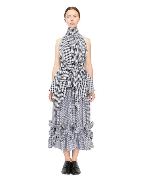 Gingham Drape Skirt Frill Product Shop Contemporary Design Luxury Original Fashion