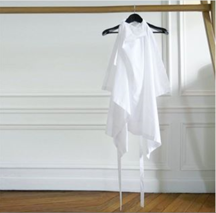 Blanket top at PFW Showroom