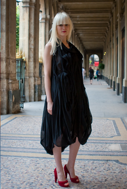 Tania at Palais Royal exhibition