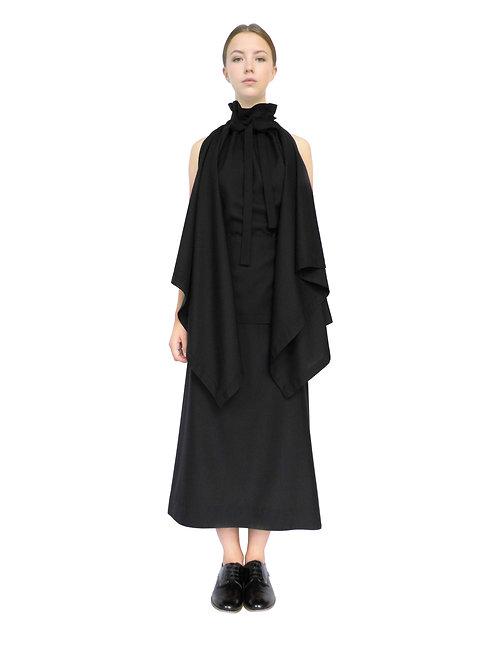 Designer Womens Long Flowing Timeless Feminine Chic Elegant Drape Frock Gown Dress