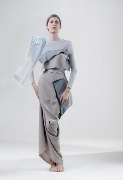 Fabric fold top & secret skirt