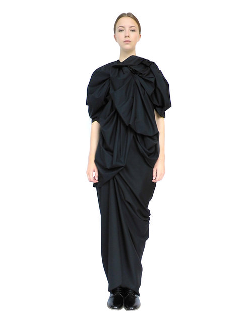 Designer Voluminous Premium Luxurious Chic Feminine Style Drape Blouse
