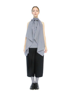 Blanket top & pleated trouser