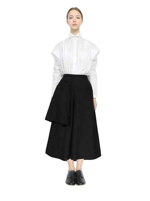 Ladies Culottes Pant Street Style Aline Wide Leg Fashionable Edgy Feminine Modern Clothes