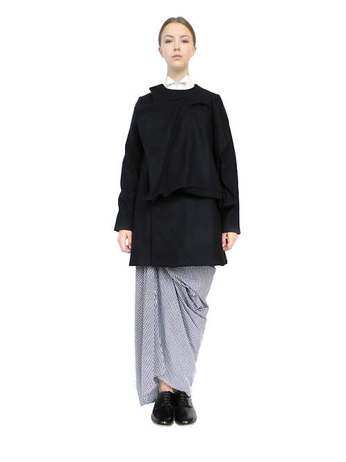 Black Wool Womens Asymmetrical Tailored Unique Pocket Jacket Product Buy Shop