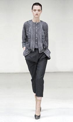 Stitch print blouse