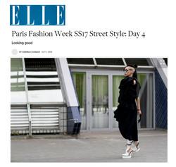 ELLE UK Lily Gatins PFW Street Style