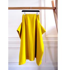 The yellow wool blanket skirt