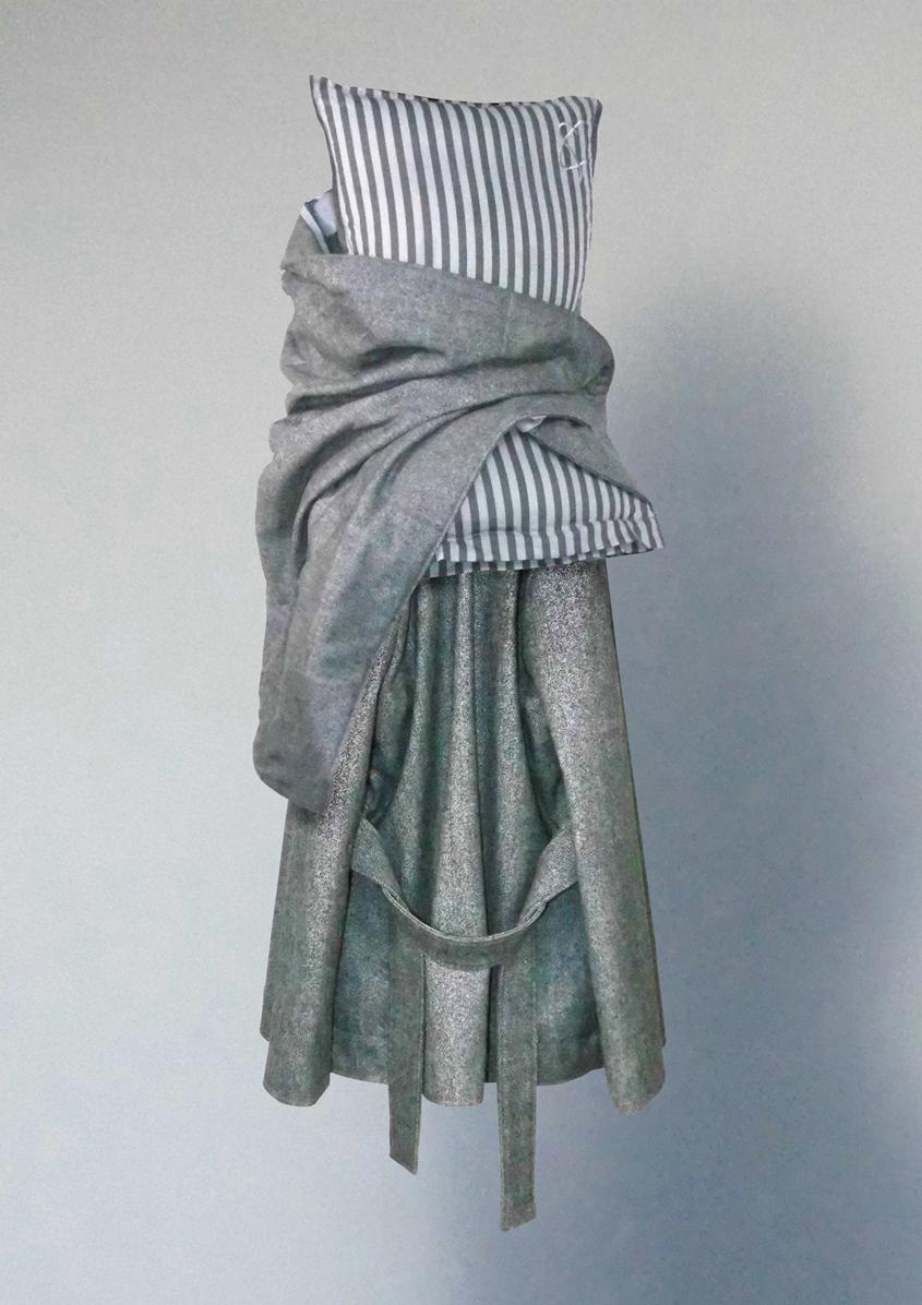 Pillow top, cape & jacket skirt