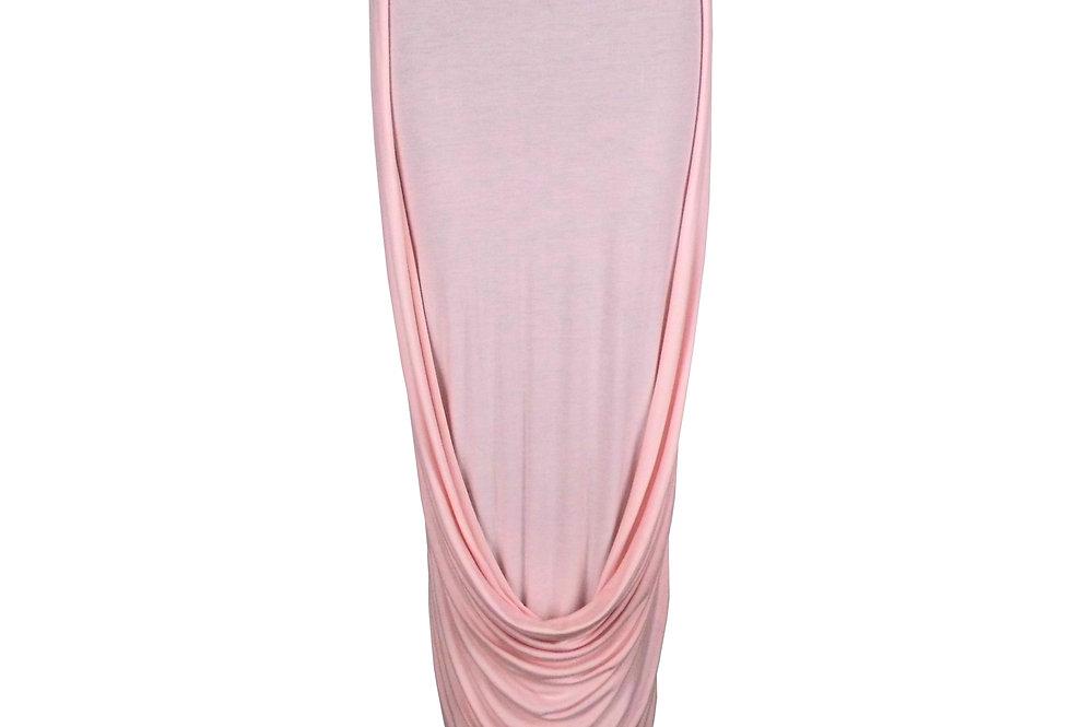 Nude Front Drape Skirt Elegant