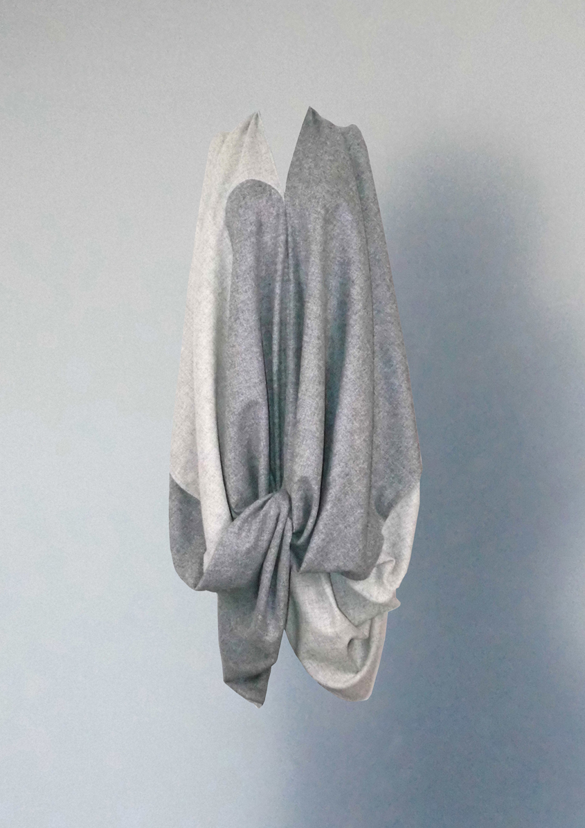 Knotted wool dress
