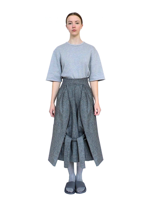 Tailored wool jacket skirt