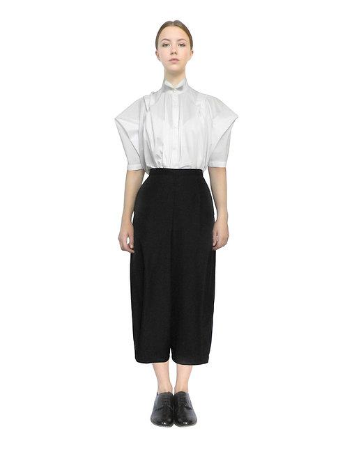 White Cotton Designer Folded Sleeve Shirt Button Buy Top Shop