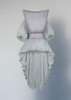 Hollow dress & pillow top